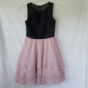 Jrs blk/rose colored dress by GB